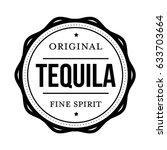 tequila vintage stamp vector | Shutterstock .eps vector #633703664