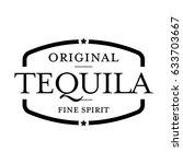 tequila vintage stamp vector | Shutterstock .eps vector #633703667
