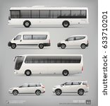set of passenger city transport ... | Shutterstock .eps vector #633710201
