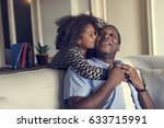 african descent family house... | Shutterstock . vector #633715991