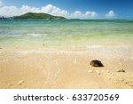 hot summer beach scene in... | Shutterstock . vector #633720569