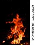 fire fire wood coals | Shutterstock . vector #633720605