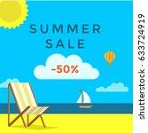 summer sale banner | Shutterstock .eps vector #633724919