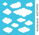 clouds vector set | Shutterstock .eps vector #633724931