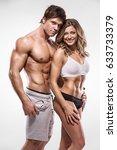 sexy couple  muscular man...   Shutterstock . vector #633733379