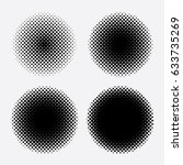 abstract halftone circle design ... | Shutterstock .eps vector #633735269