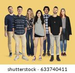 group of diversity people... | Shutterstock . vector #633740411