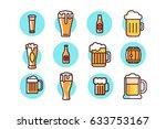 beer icons in vector graphics | Shutterstock .eps vector #633753167
