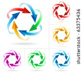 set  6 of different colored...   Shutterstock .eps vector #63375436