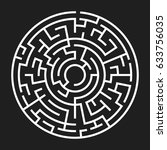 circle maze. labyrinth with...   Shutterstock .eps vector #633756035