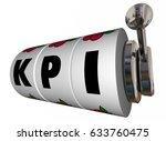 kpi key performance indicators... | Shutterstock . vector #633760475