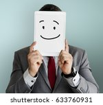 drawing facial expressions... | Shutterstock . vector #633760931