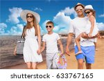 beach. | Shutterstock . vector #633767165