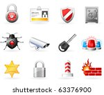 security and safety icons | Shutterstock .eps vector #63376900