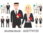 business people in different... | Shutterstock .eps vector #633774725