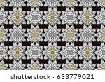 raster golden pattern. oriental ...   Shutterstock . vector #633779021