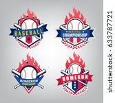 vector design set of baseball... | Shutterstock .eps vector #633787721