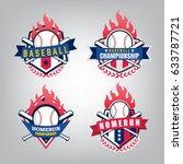 vector design set of baseball... | Shutterstock .eps vector #633787721
