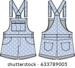 detail fashion flat sketch... | Shutterstock .eps vector #633789005