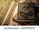 prayer beads on koran   holy... | Shutterstock . vector #633790274
