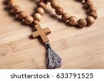 cross on desk. | Shutterstock . vector #633791525