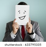 drawing facial expressions... | Shutterstock . vector #633795335