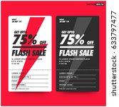 get upto 75 percent off flash... | Shutterstock .eps vector #633797477