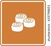 cinnamon rolls sign | Shutterstock .eps vector #633798851