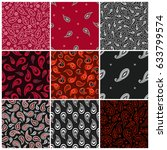 bandana seamless oriental ... | Shutterstock .eps vector #633799574