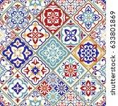 seamless ceramic tile with...   Shutterstock .eps vector #633801869