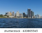 darling harbour with barangaroo ... | Shutterstock . vector #633805565