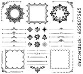 vintage set of classic elements.... | Shutterstock . vector #633807365