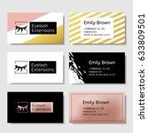 branding for salon eyelash... | Shutterstock .eps vector #633809501