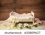 newborn photo shoot set up with ... | Shutterstock . vector #633809627