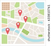 street maps and directions | Shutterstock .eps vector #633810761
