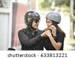 safety riding concept. asian... | Shutterstock . vector #633813221
