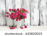 Bouquet Of Crimson Spray Roses...