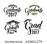congratulations graduate 2017.... | Shutterstock .eps vector #633821279