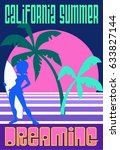 california summer vintage... | Shutterstock .eps vector #633827144