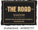 font. alphabet. script.... | Shutterstock .eps vector #633832757