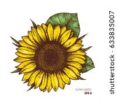 Sunflower Vintage Engraved...