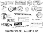 a set of nineteen large postal... | Shutterstock . vector #63384142