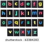 alphabet  rubber letters on... | Shutterstock . vector #63384283