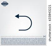 undo icon  back arrow symbol