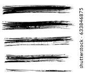 ink vector brush strokes.... | Shutterstock .eps vector #633846875