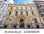 Small photo of Facade of Real Academia Nacional de Medicina building. Built in 1912 by Luis Maria Cabello Lapiedra. Located in Arrieta Street, Madrid, Spain