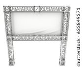 steel truss girder element...   Shutterstock . vector #633849371