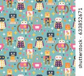seamless pattern with different ...   Shutterstock .eps vector #633852671