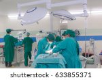 doctor surgery team in the... | Shutterstock . vector #633855371