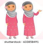 little girl | Shutterstock .eps vector #633858491